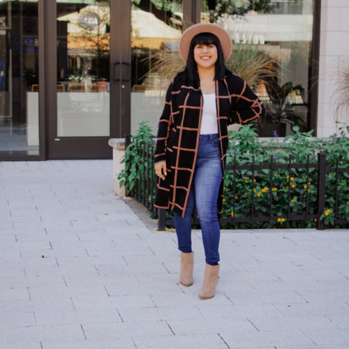 The perfect long knit cardigan